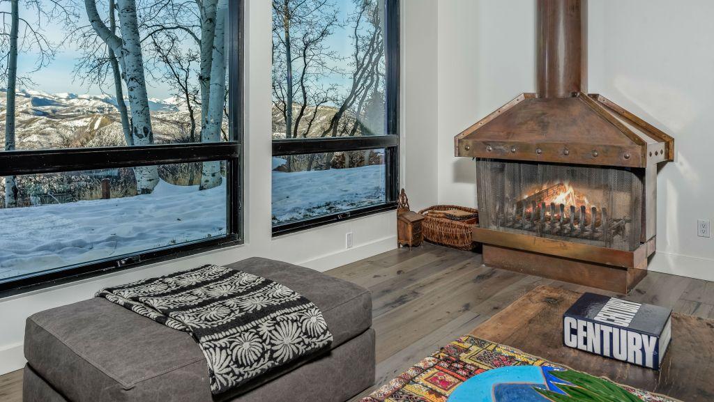 The former estate of John Denver, fireplace.