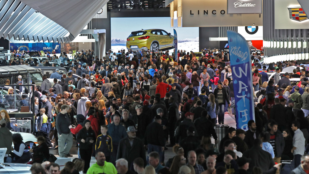 Attendees at Detroit's annual auto show.