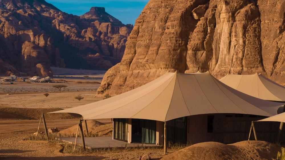 tented camp Saudi Arabia desert