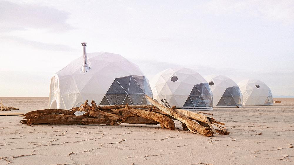 Domed camp in Bolivia Uyuni Salt Flats