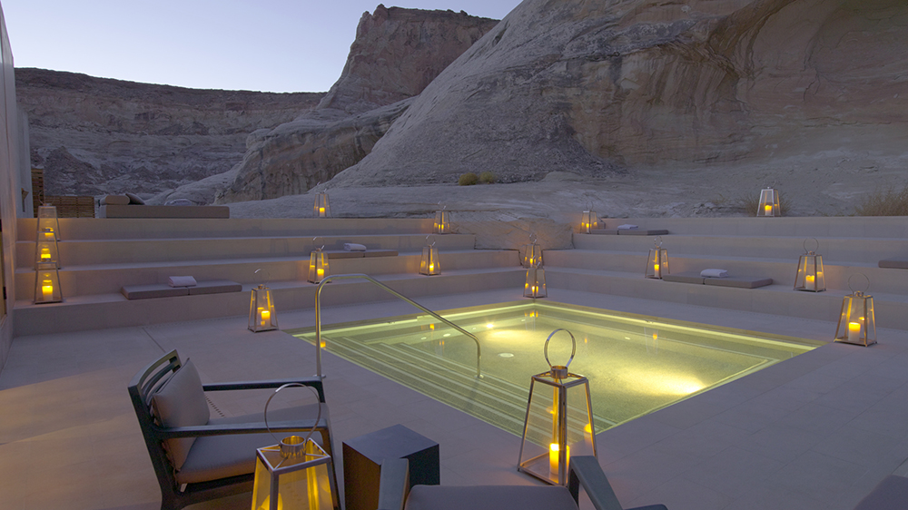 Amangiri Aman Spa Step Pool Dusk