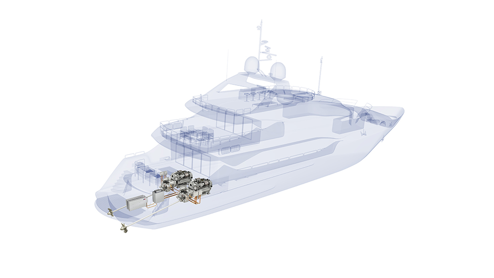 British luxury yacht manufacturer Sunseeker International and Rolls-Royce have agreed to present the first yacht fitted with an MTU series production hybrid propulsion system in 2020. The combination of diesel engines and electric motors, in addition to batteries and their variable areas of application, offer yacht owners significant benefits: Silent cruising, combined with low vibration and emission levels, high performance levels, efficiency, environmental compatibility and the flexibility of the propulsion system.