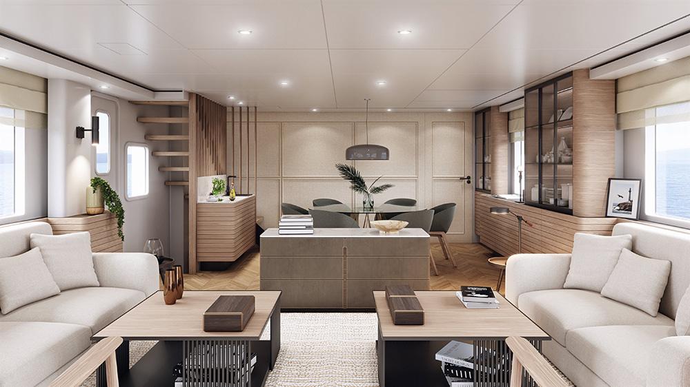 Vripack - Nordhavn 80 main saloon yacht