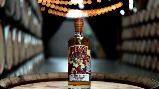 Peat Week whiskey 2018 from Westland Distillery
