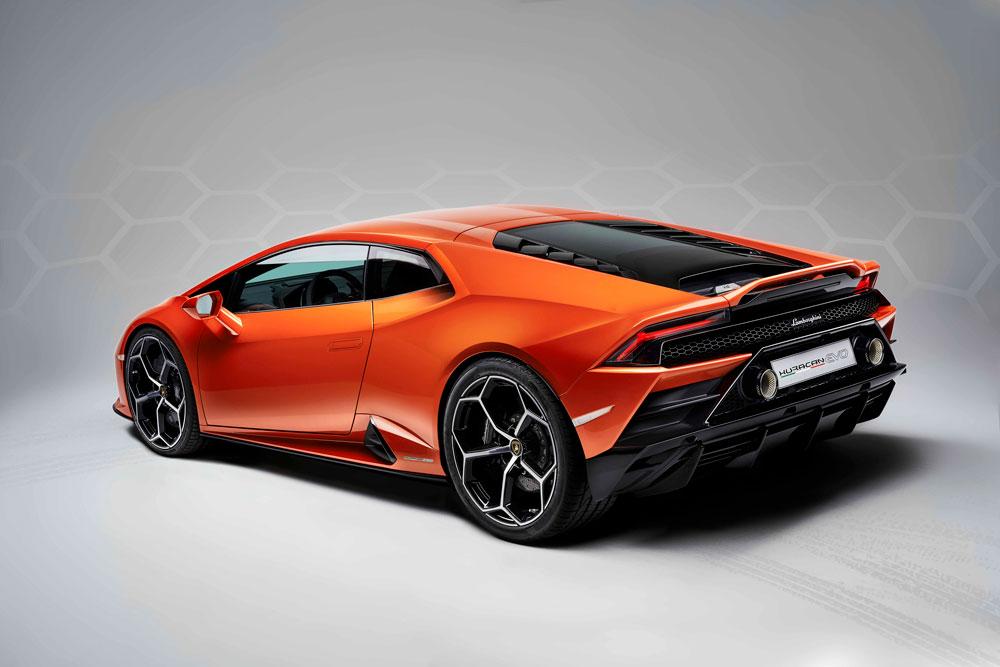 The Lamborghini Huracán Evo.