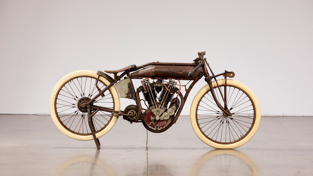 A 1913 Indian 8-Valve Board Track Racer.