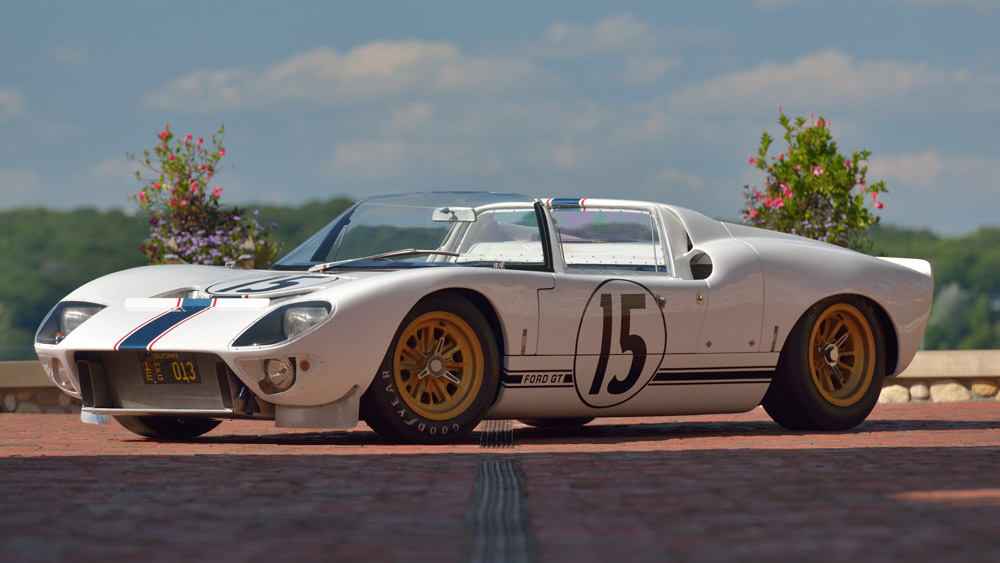 A 1965 Ford GT Competition Prototype Roadster.