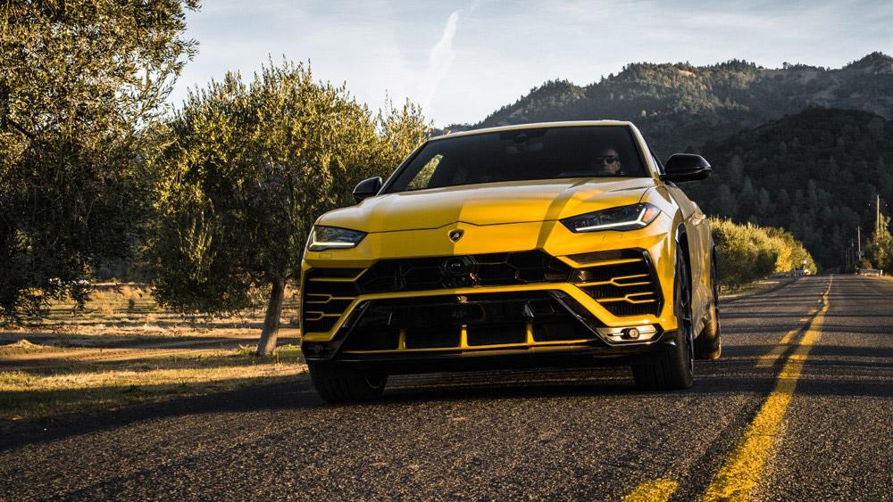 The Lamborghini Urus in Napa, Calif.