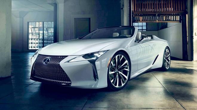 The Lexus LC Convertible Concept.
