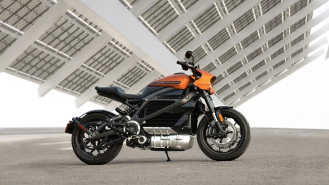 Harley-Davidson's LiveWire electric motorcycle.