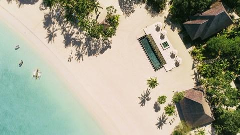 Beach island resort in Tahiti French Polynesia