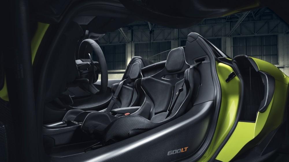 McLaren 600LT Spider Convertible, interior.