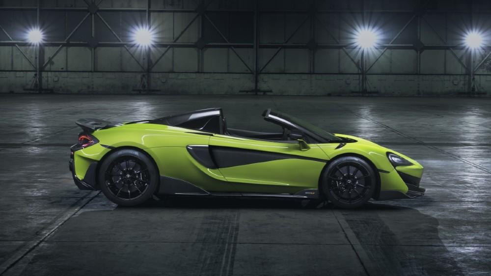 McLaren 600LT Spider Convertible, profile.