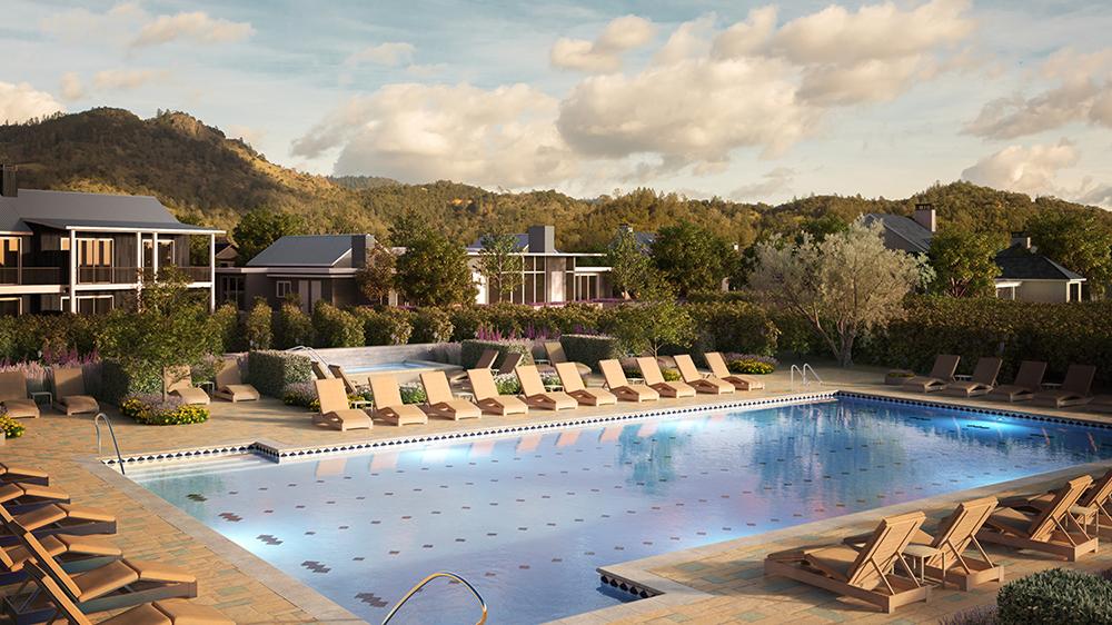 Pool at Four Seasons Resort & Residences Napa Valley