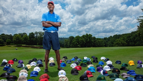 Jimmie James played 100 courses in a year.