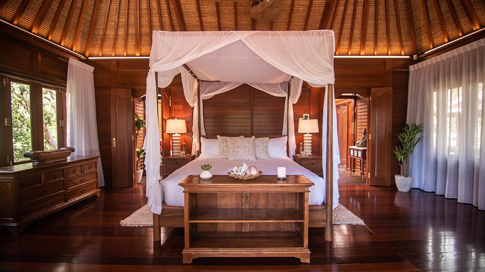 villa bedroom at Makepeace Island