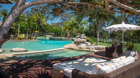pool at Makepeace Island