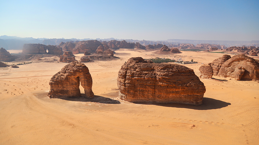 Elephant Rock Saudi Arabia Desert