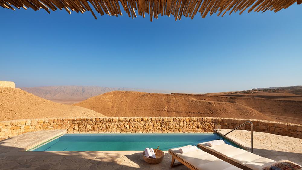Pool villa in the desert Israel Six Senses