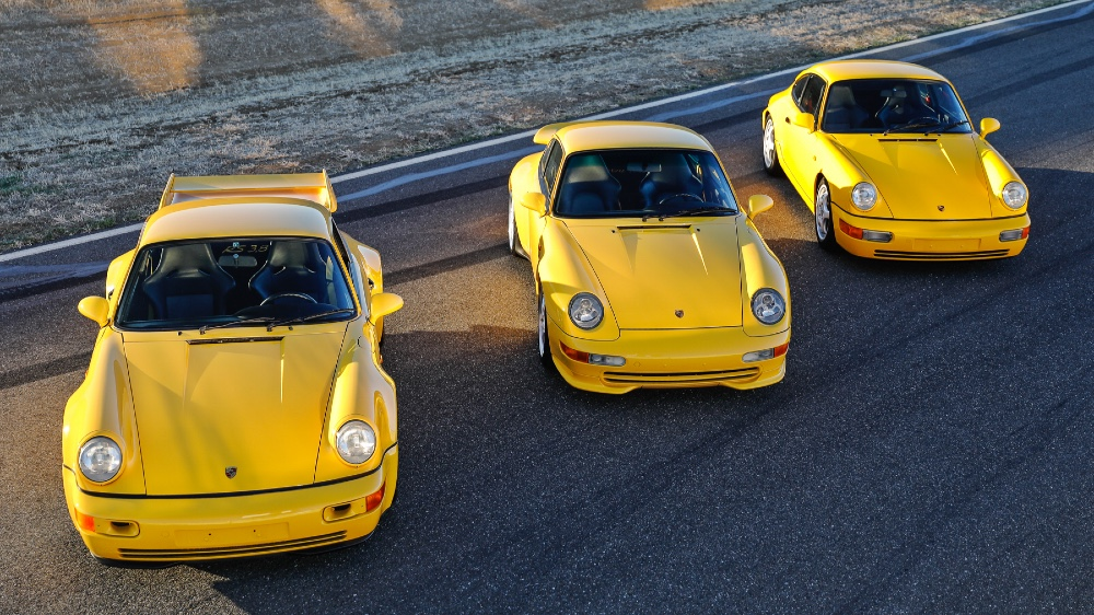 Jan Koum's 1992 and '93 964 Carrera RS 3.8s, and the 1995 993 Carrera 3.8.