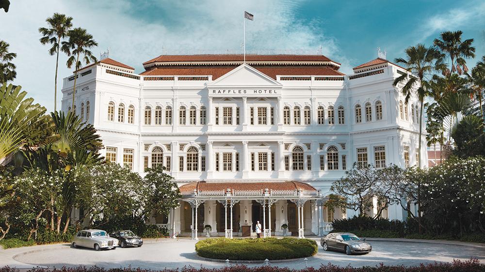 Raffles Singapore hotel facade