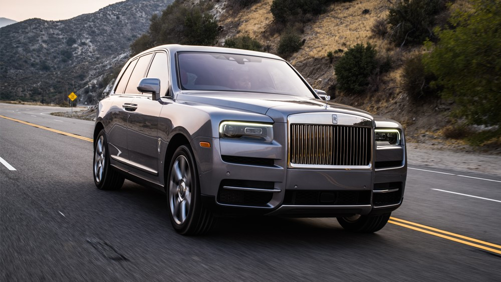 The Rolls-Royce Cullinan in Napa, Calif.