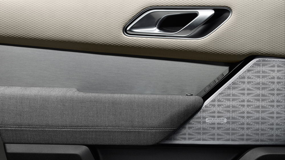 The Range Rover Velar's exclusive fabric alternatives to leather.