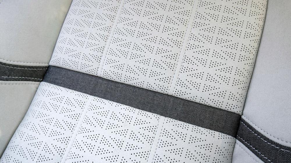 The Range Rover Velar's wool-blend fabric from Kvadrat.