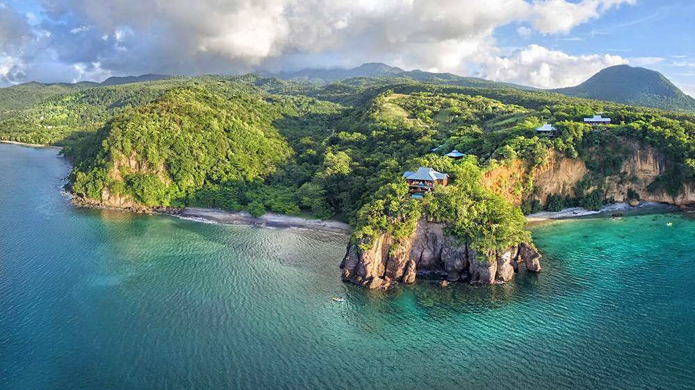 resort Dominica cliff top Caribbean