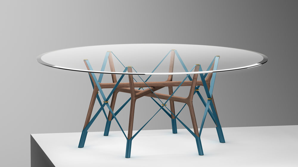 Serpentine table Louis Vuitton