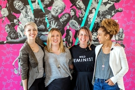 The Coven's founders Bethany, Liz, Erinn, and Alex Minneapolis women's clubs Muse