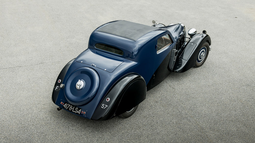 This 1936 Bugatti Type 57 Two-Light Ventoux fetched $885,000 at Gooding & Company's Scottsdale Auction.