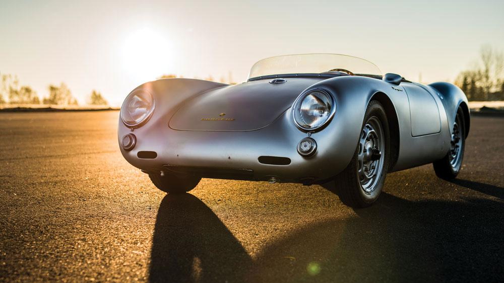 A 1956 Porsche 550 RS Spyder by Wendler.