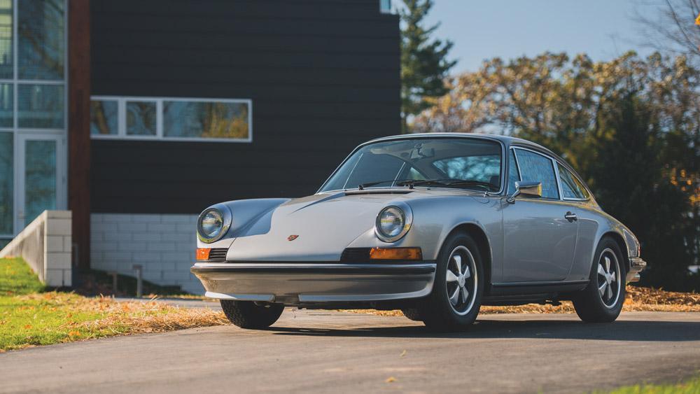 The 1973 Porsche 911 S Coupe presented at auction through RM Sotheby's.