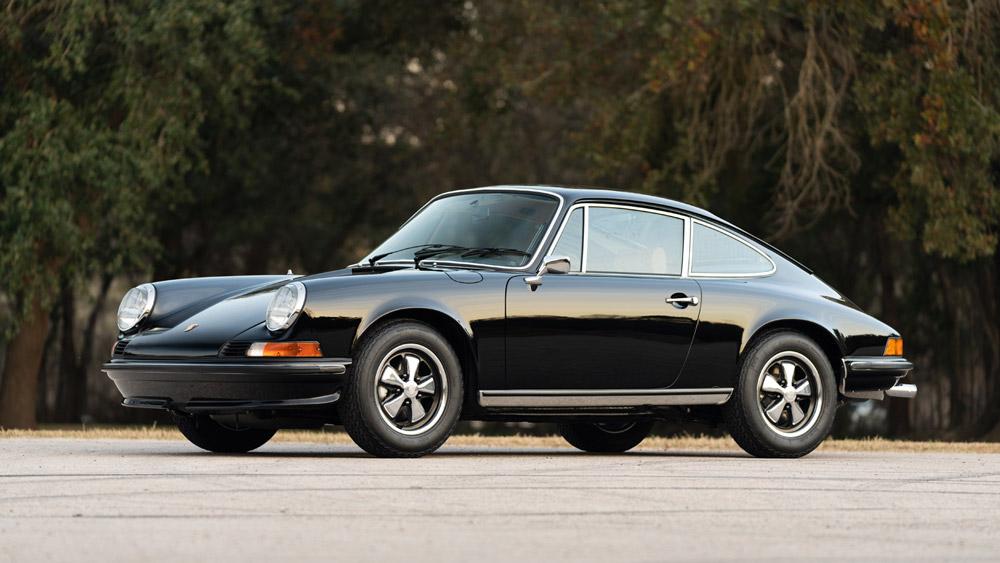 A 1973 Porsche 911 2.4 S that sold through Gooding & Company.