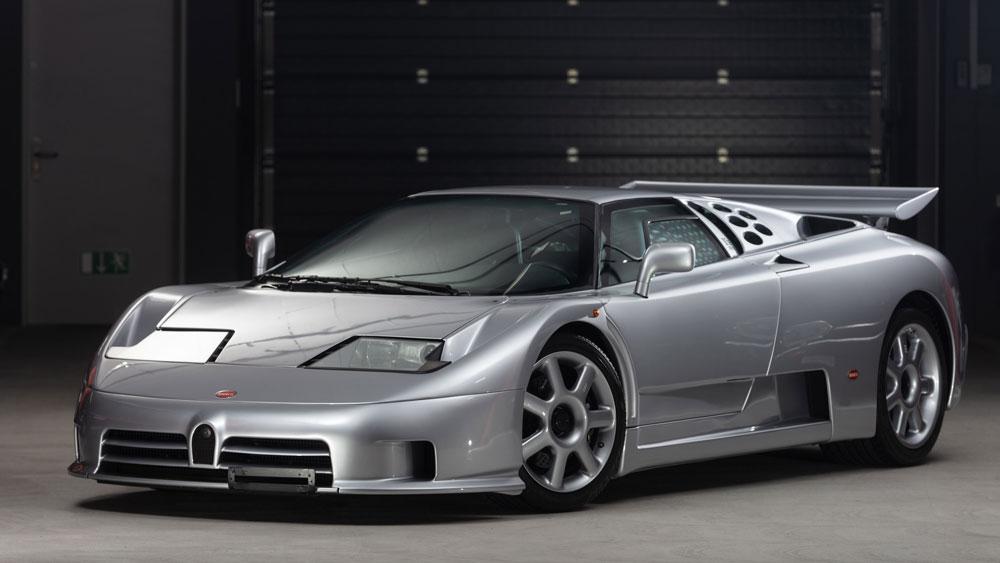 A 1994 Bugatti EB110 Super Sport.