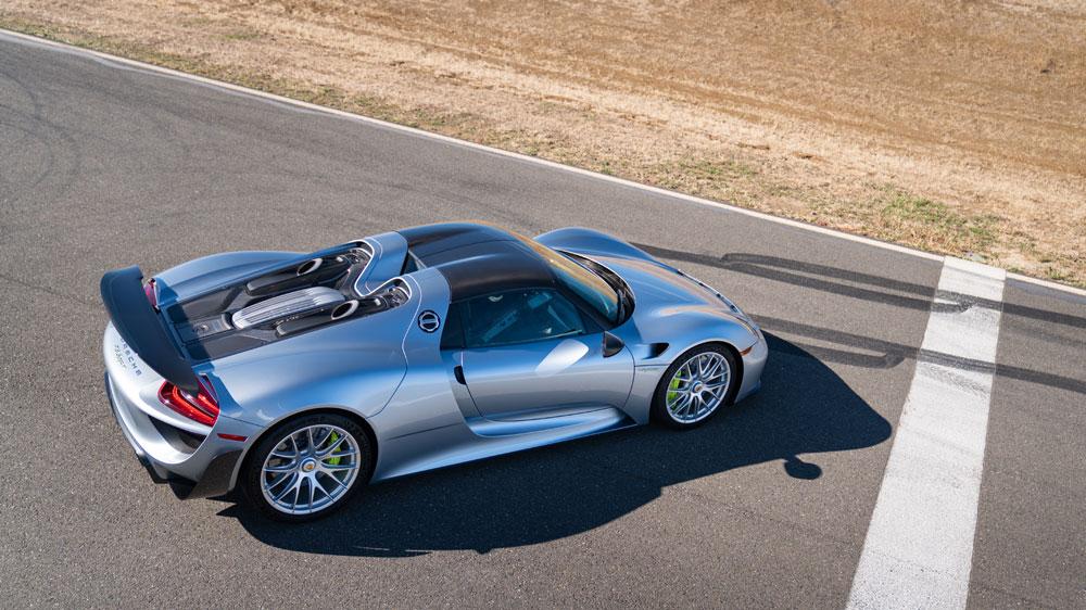 The 2015 Porsche 918 Spyder Weissach at auction through Gooding & Company.