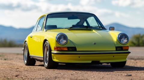 A 1973 Porsche 911 S 2.4 Coupe presented at auction through Bonhams.