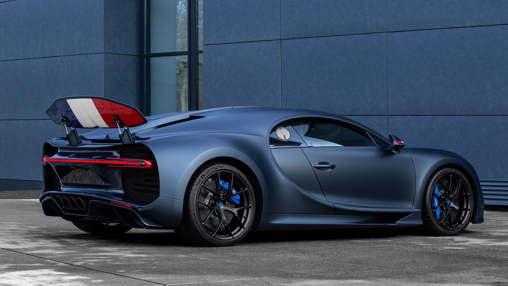 "The Bugatti Chiron Sport ""110 ans Bugatti"" hypercar."
