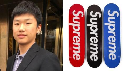 Carson Guo and Supreme skate decks