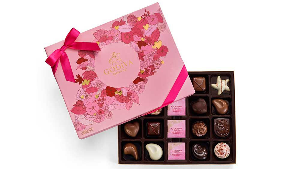 valentine's day chocolate godiva
