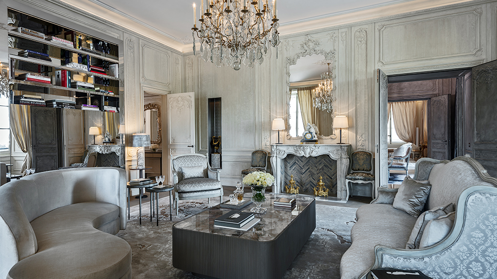 Karl Lagerfeld suite at Hotel de Crillon Paris