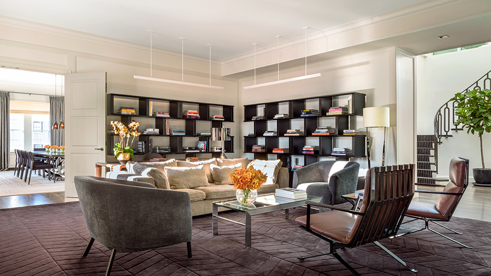 private library in hotel suite in New York City
