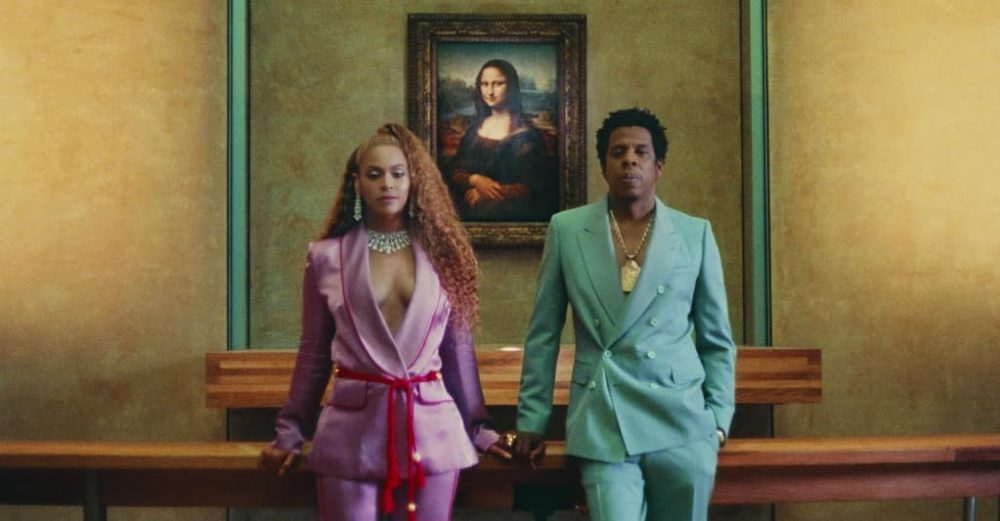 Beyoncé and Jay-Z in the Louvre.