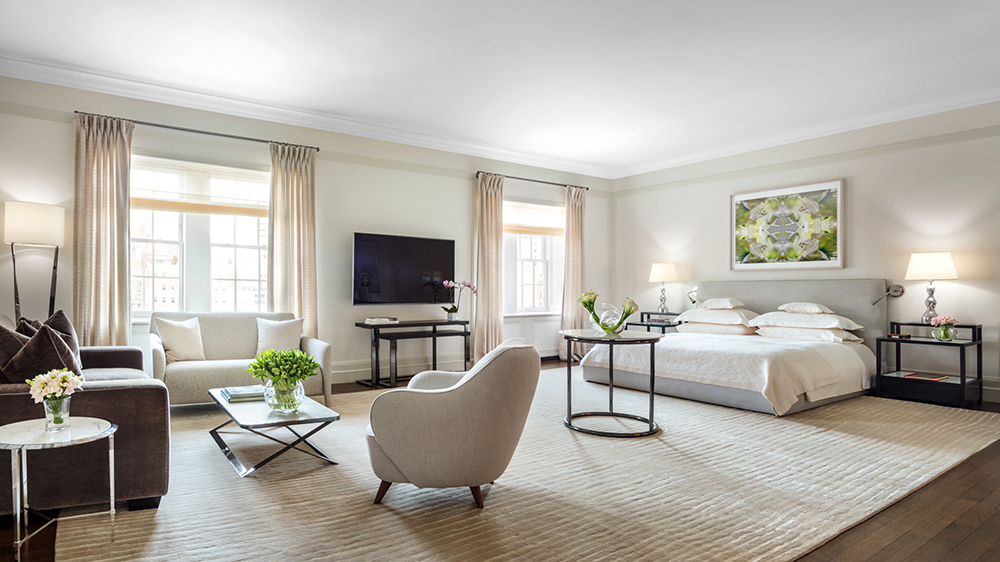 master bedroom suite New York City penthouse
