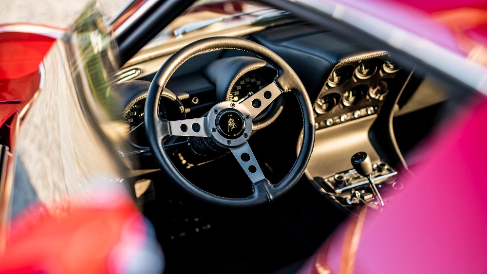 1972 Lamborghini Miura SV interior.