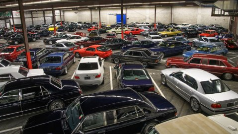 A portion of the Youngtimer Collection, cars from the 1980s and 1990s.