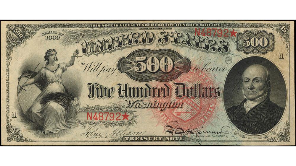 "1869 $500 ""Rainbow"" Legal Tender Note"