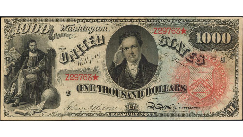 1869 $1000 Legal Tender Note.