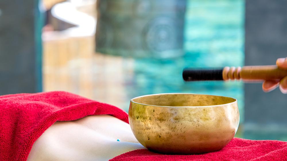 sound bowl spa therapy massage